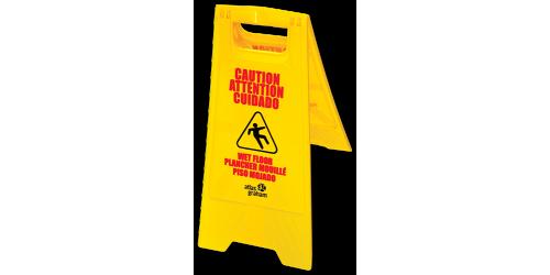 Panneau «Attention plancher mouillé»
