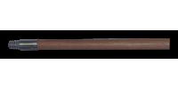 """Manche en bois avec embout fileté métallique - 60"""""""
