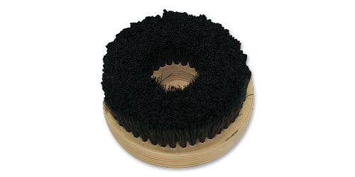 Carpet brush for high speed buffer