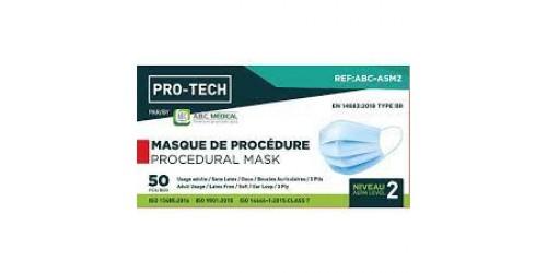 Masque de procédure Niv. 2 (50)